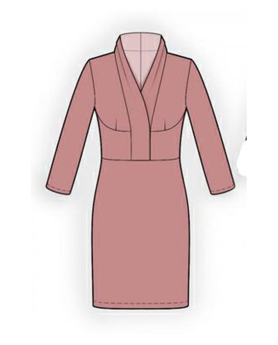 Платье с воротником шалька плотная атласная лента купить